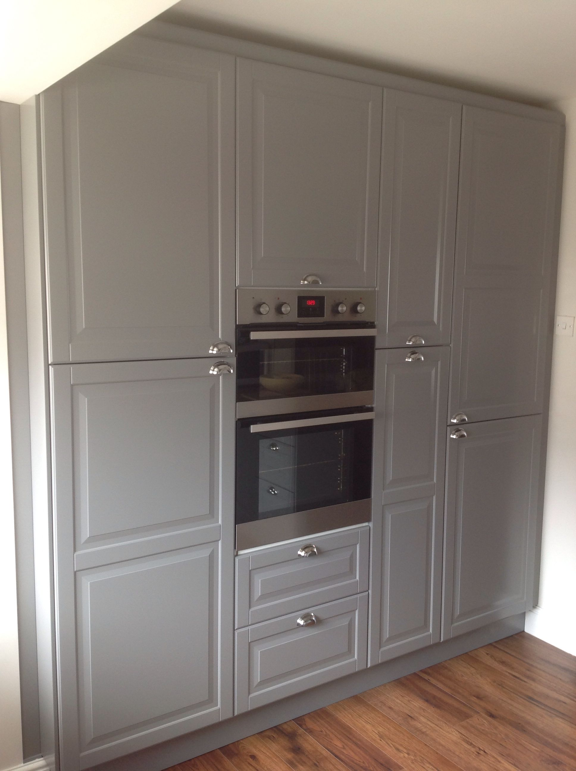 Full Wall Cupboards From Ikea Love The Grey Colour Wall Cupboards Kitchen Cupboard
