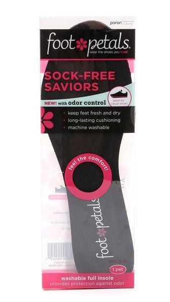 PINK! Washable FULL Insole Foot Petals SOCK-FREE SAVIORS w// Odor Control