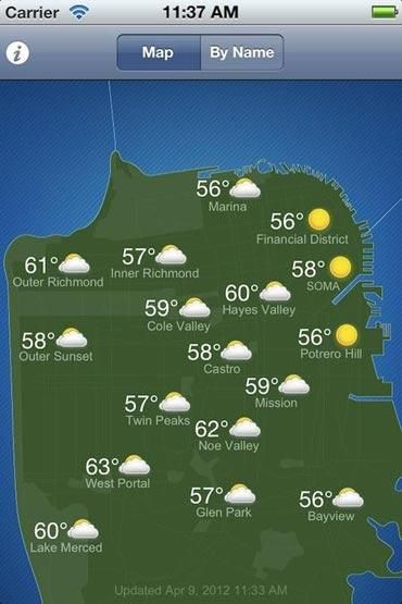 Sf S Micro Climates Can Really Throw Us Off This App Helps You Find