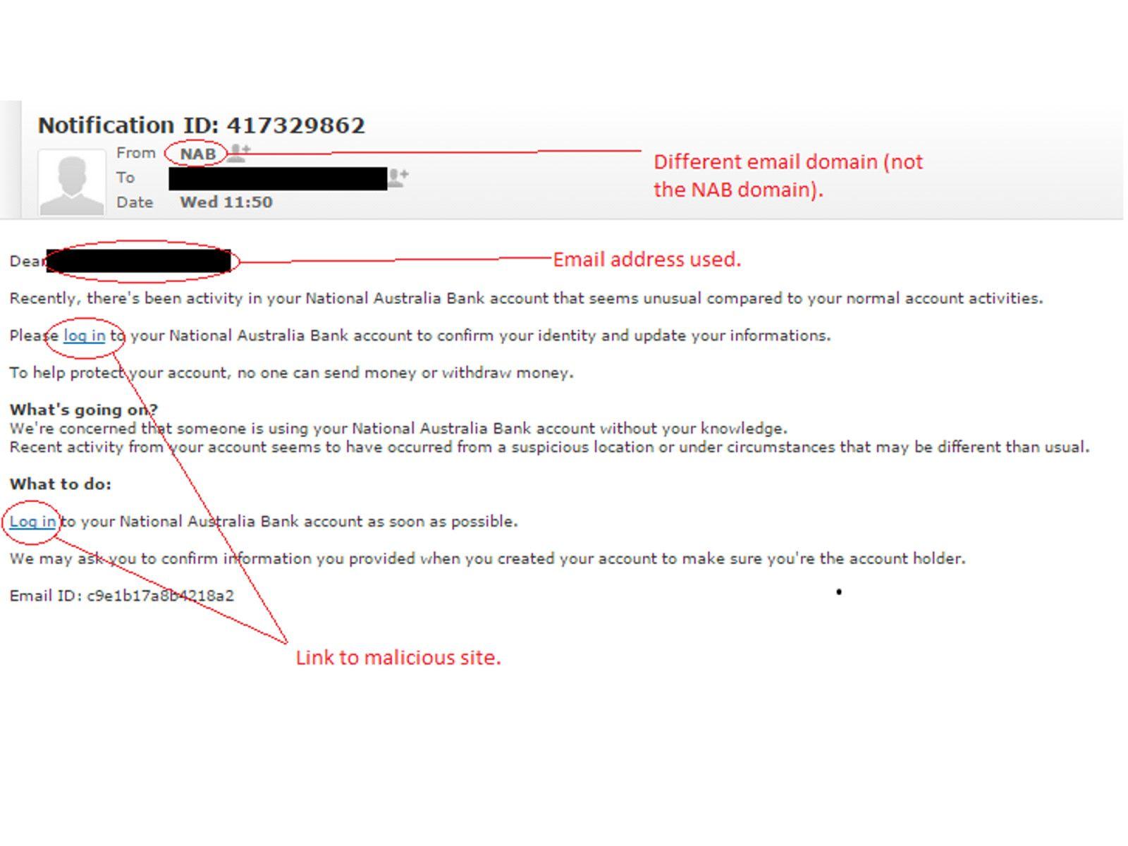 Latest Email Phish Targets Nab Customers Phish National Australia Bank News