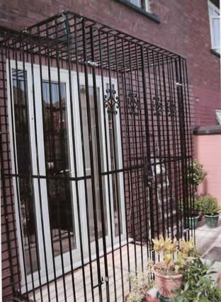 Security Bar Door Grills. This Set Is Kinda Ugly, But It Is A Good