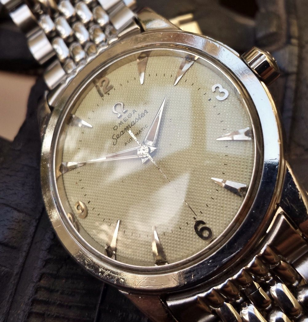 46c46c520cb Vintage OMEGA Seamaster Automatic in Stainless Steel On Beads Of Rice  Bracelet