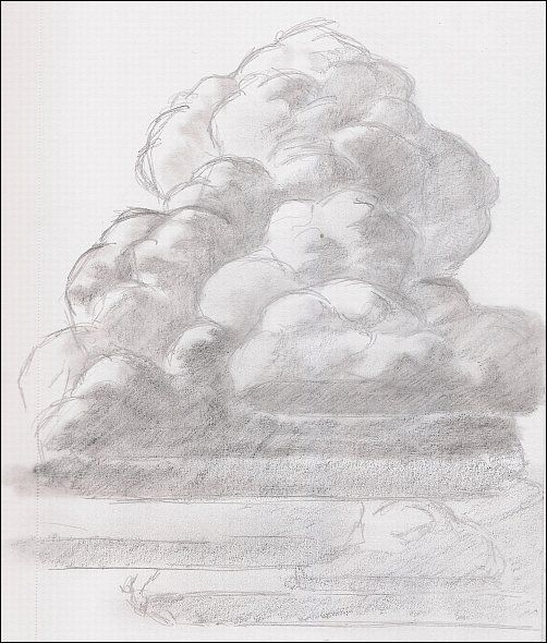 How To Draw Thunderhead Clouds Cloud Drawing Sketch Cloud Drawings