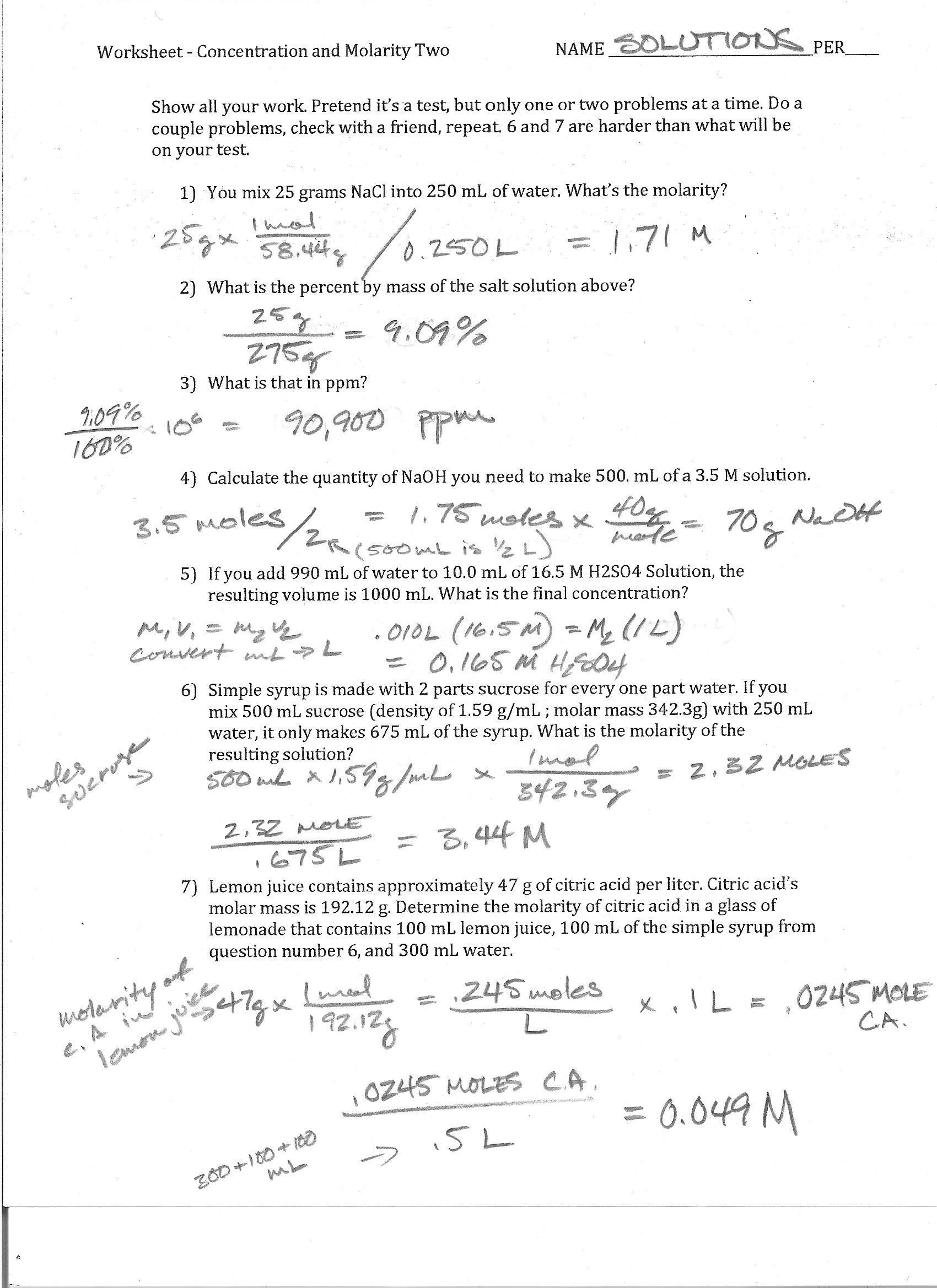 Boyle S Law Worksheet Answers Foothill High School In