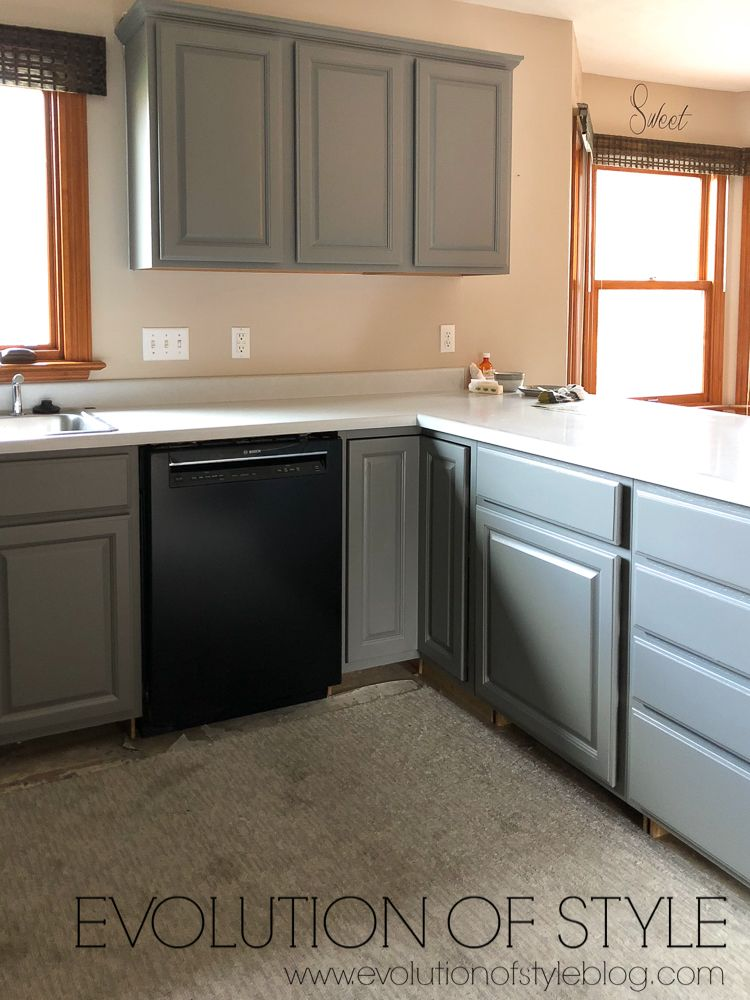 Best Painted Kitchen Cabinets In Sherwin Williams Dorian Gray 640 x 480