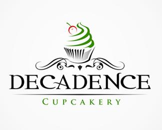 Cupcake Logo Design Decadence Cupcakery