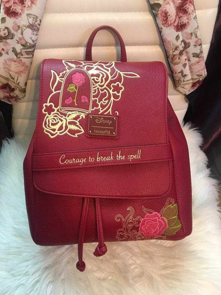 Beauty and the beast loungefly bad barely used in great
