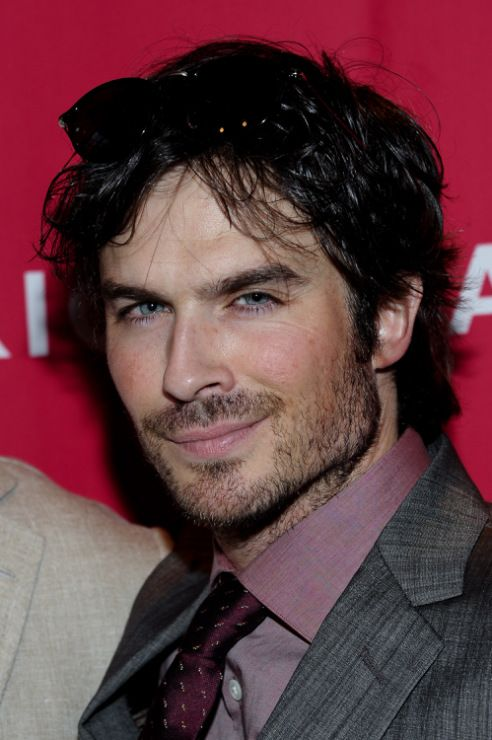 Ian Somerhalder shows off his summer hiatus beard he attends the Eat (RED). Drink (RED). Save Lives. Launch held at Eataly on Monday night (June 2) in New York City.