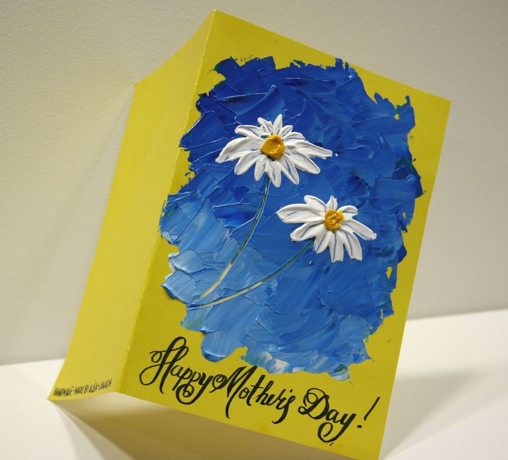Original hand painted greeting cardthers day greeting card by original hand painted greeting cardthers day greeting card by nata s mothersday kristyandbryce Gallery