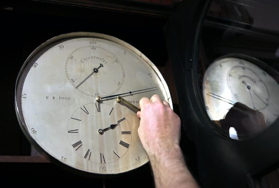 Grimy Broken Clock Turns Out To Be Rare Gem The Boston Globe