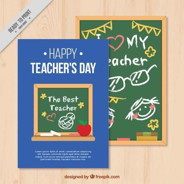download happy teachers day card template for free
