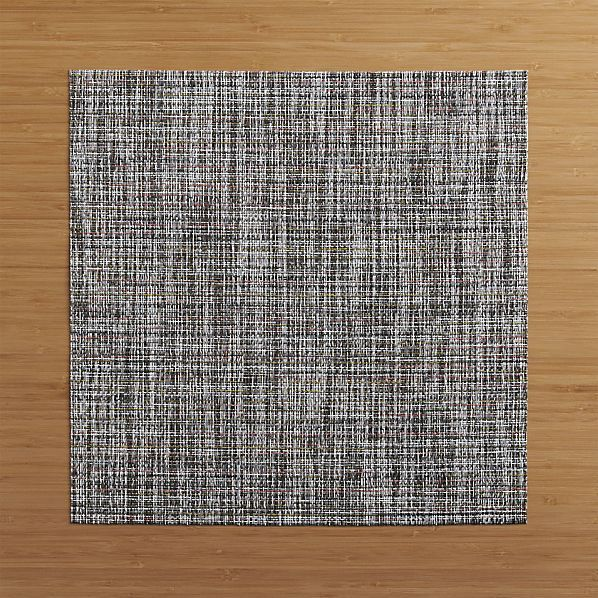 Chilewich Crepe Plaid Square Placemat Placemats Crate And Barrel Crates