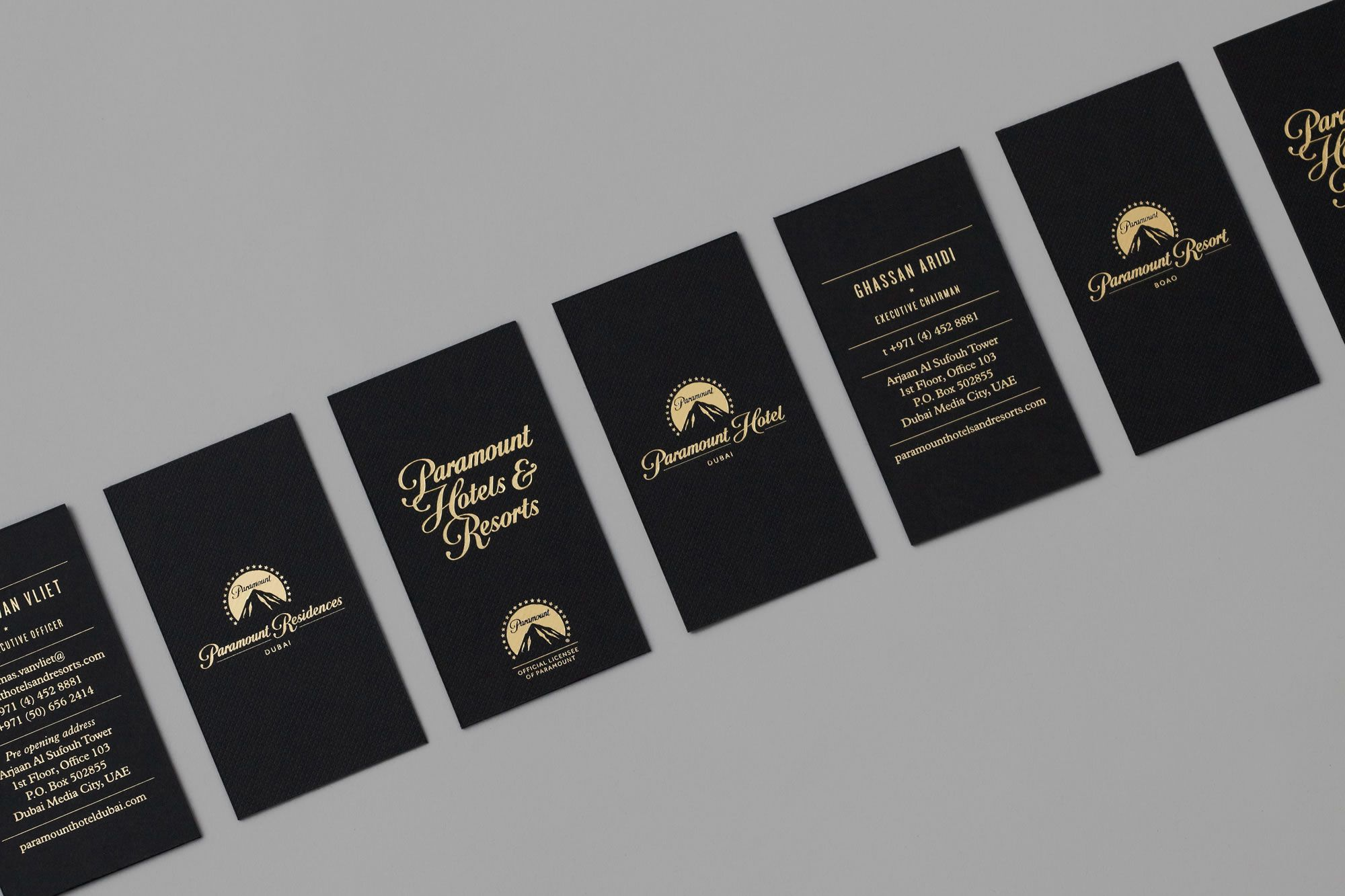 Sleep with smith we brand the worlds leading hotels view our paramount resort and hotels business card design by smith reheart Gallery