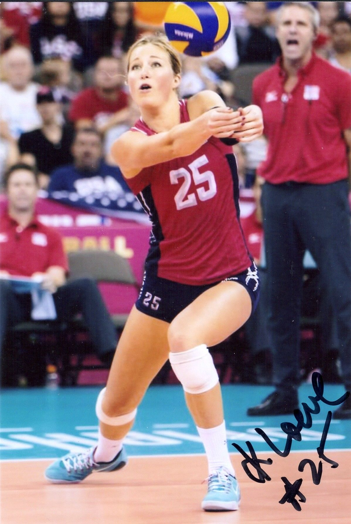 4x6 Karsta Lowe Autograph 2016 Bronze Ucla 2015 1st Team All American Usa Volleyball Volleyball Players Volleyball