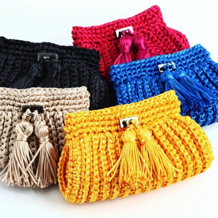 Resultado de imagem para bolsa trapilho passo a passo   crochet ...