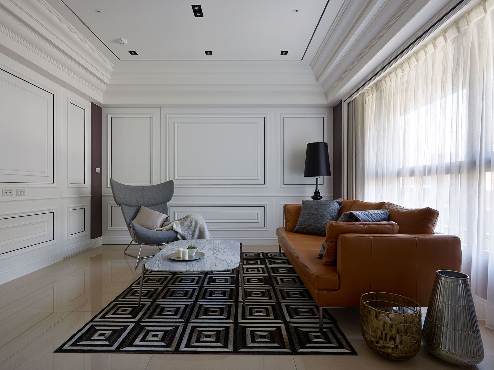 Nice Living Room Setting Featuring BoConcept Furniture