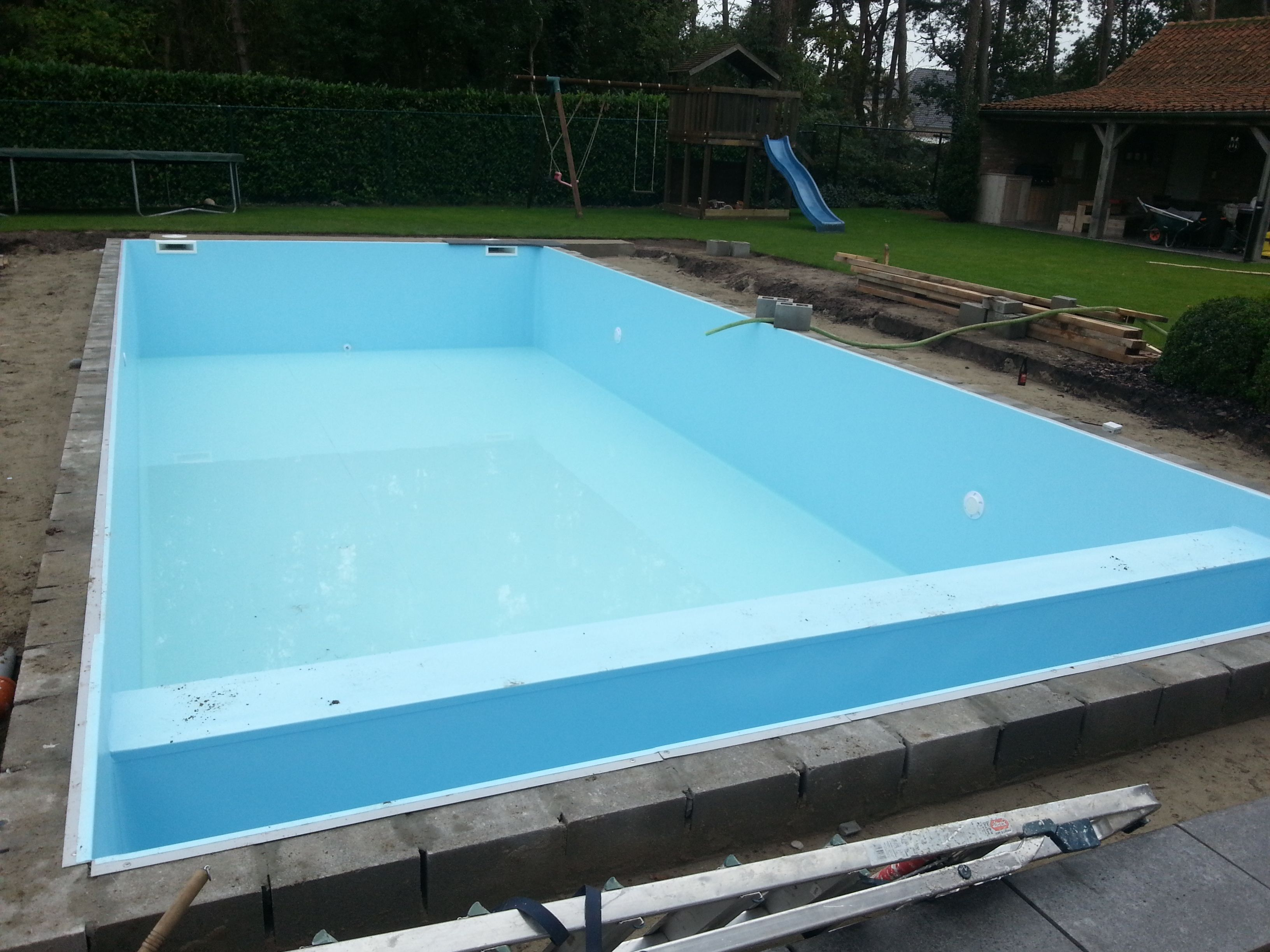 Lichtblauwe liner pool water pool water and water