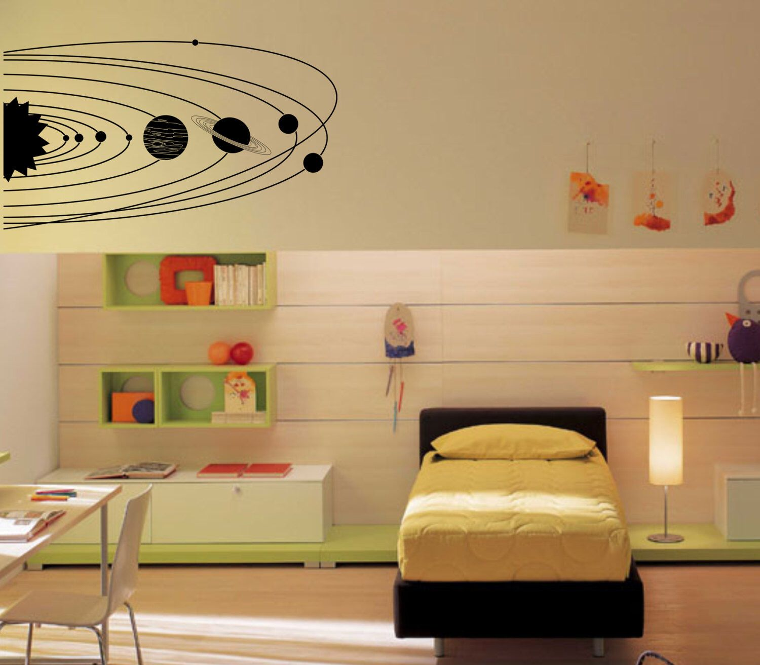 Large Solar System with planets and orbits wall decal - vinyl wall ...