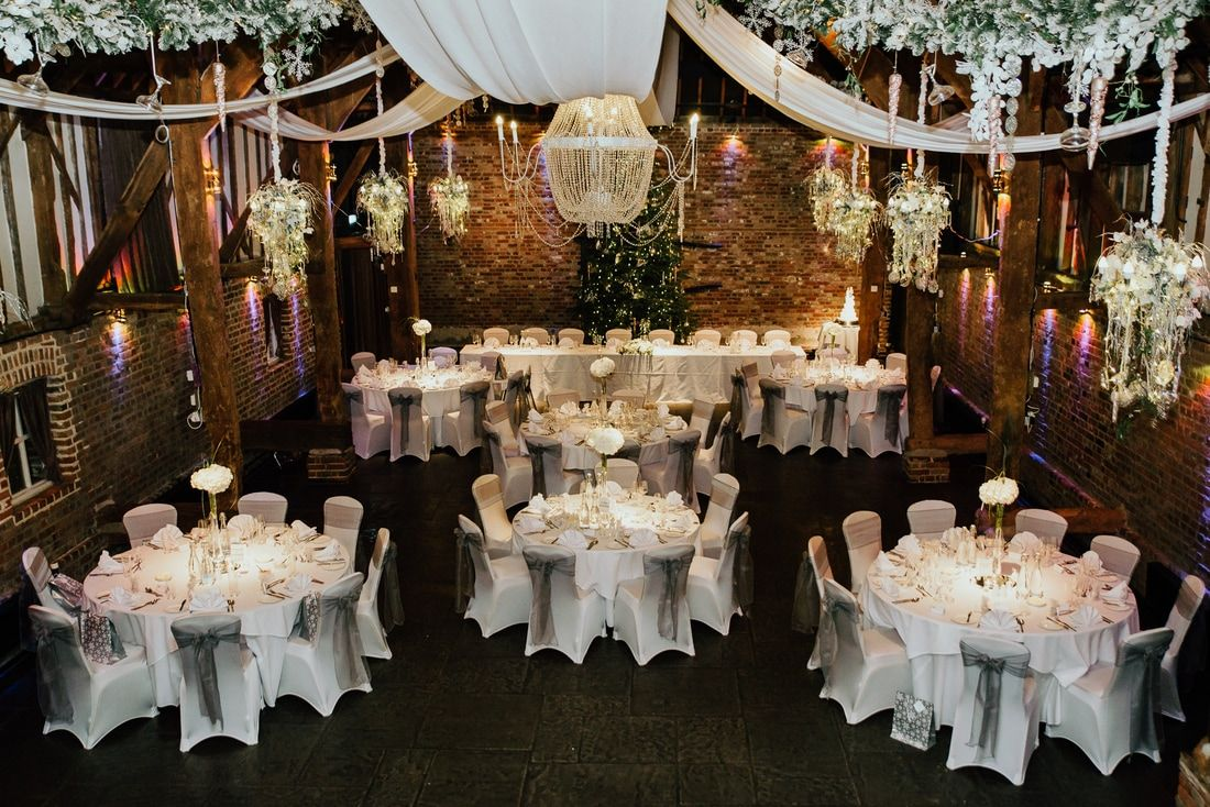 Cooling Castle Barn Christmas Wedding Kent