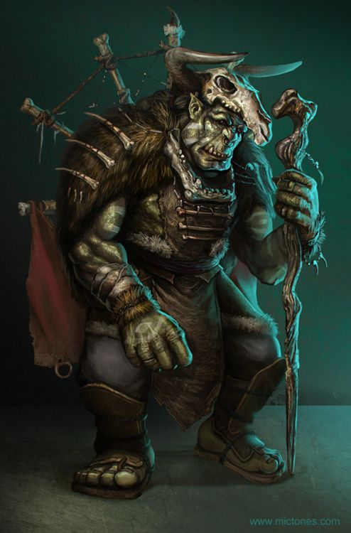 Orc Bull Hobbler Orc Shamans Who Use Dead Bison And Minotaur