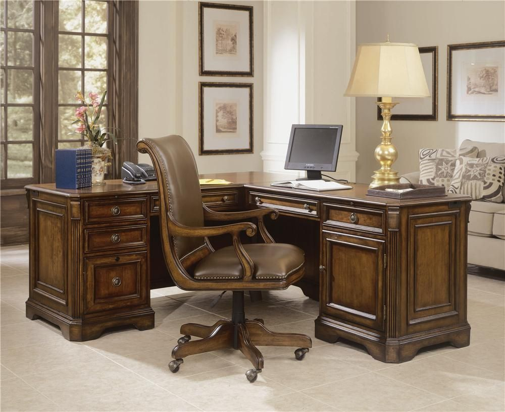 Incroyable Shop For Hooker Furniture Brookhaven Executive L Right Return, And Other  Home Office Desks Furniture. The Brookhaven Collection Is Crafted From  Hardwood ...