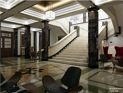 Lobby of Town Hall Hotel & Apartments. | Gorgeous Garbage ...