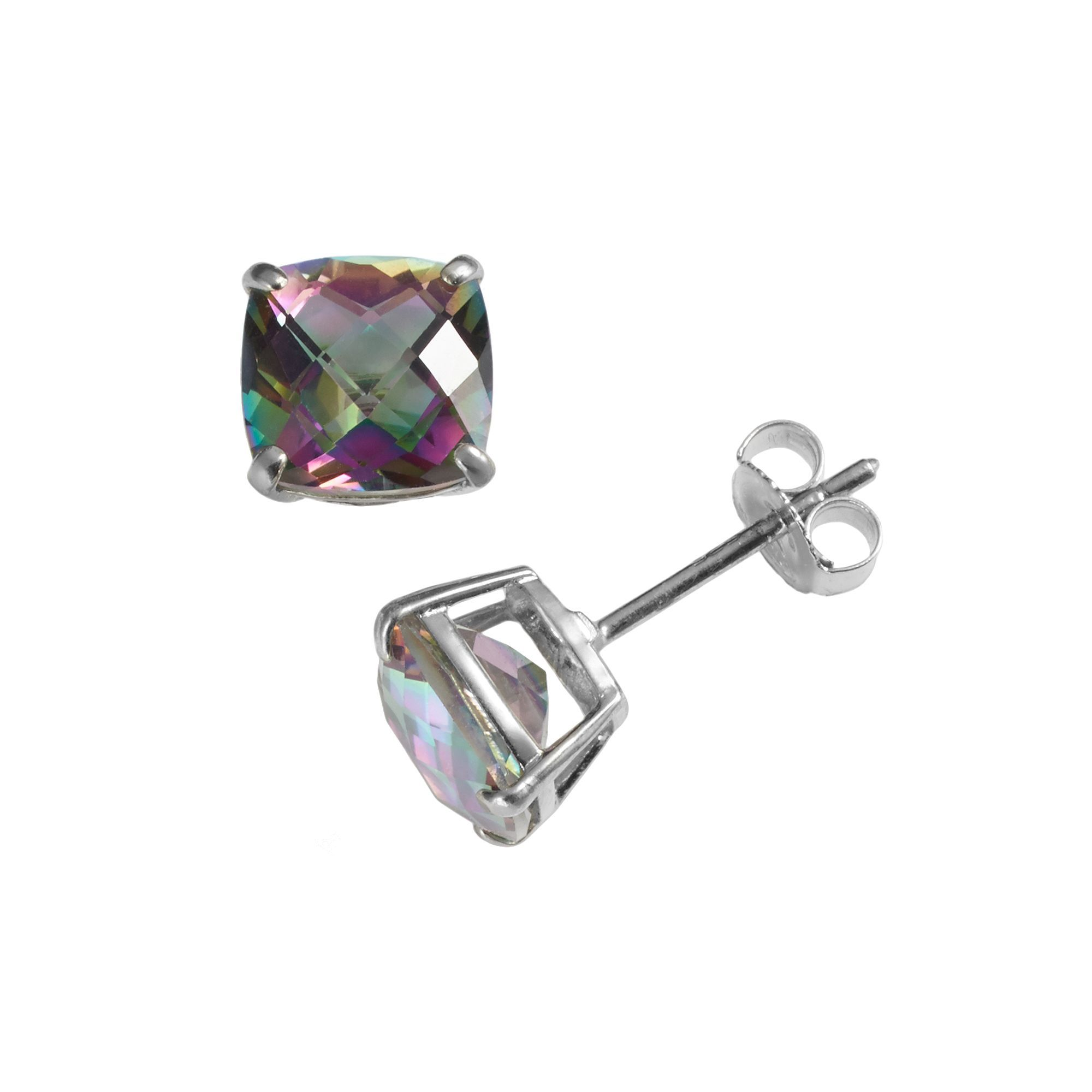 Sterling Silver Rainbow Quartz Stud Earrings Products