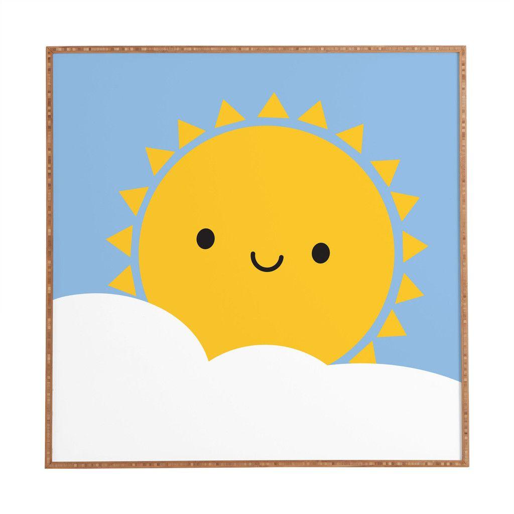 Marceline Smith Happy Sun Framed Wall Art | DENY Designs Home ...