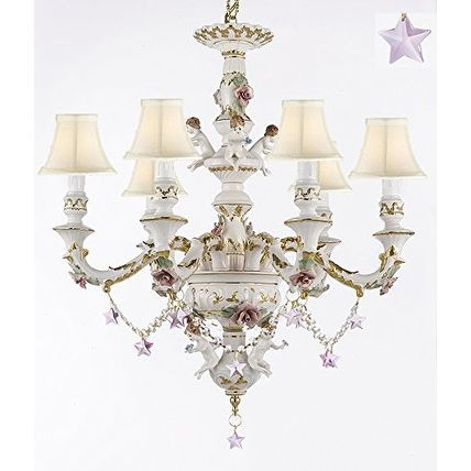 Authentic Capodimonte Porcelain Chandelier Lighting With Cherub Angels Shades Products Pinterest Ceiling Lights And Chandeliers