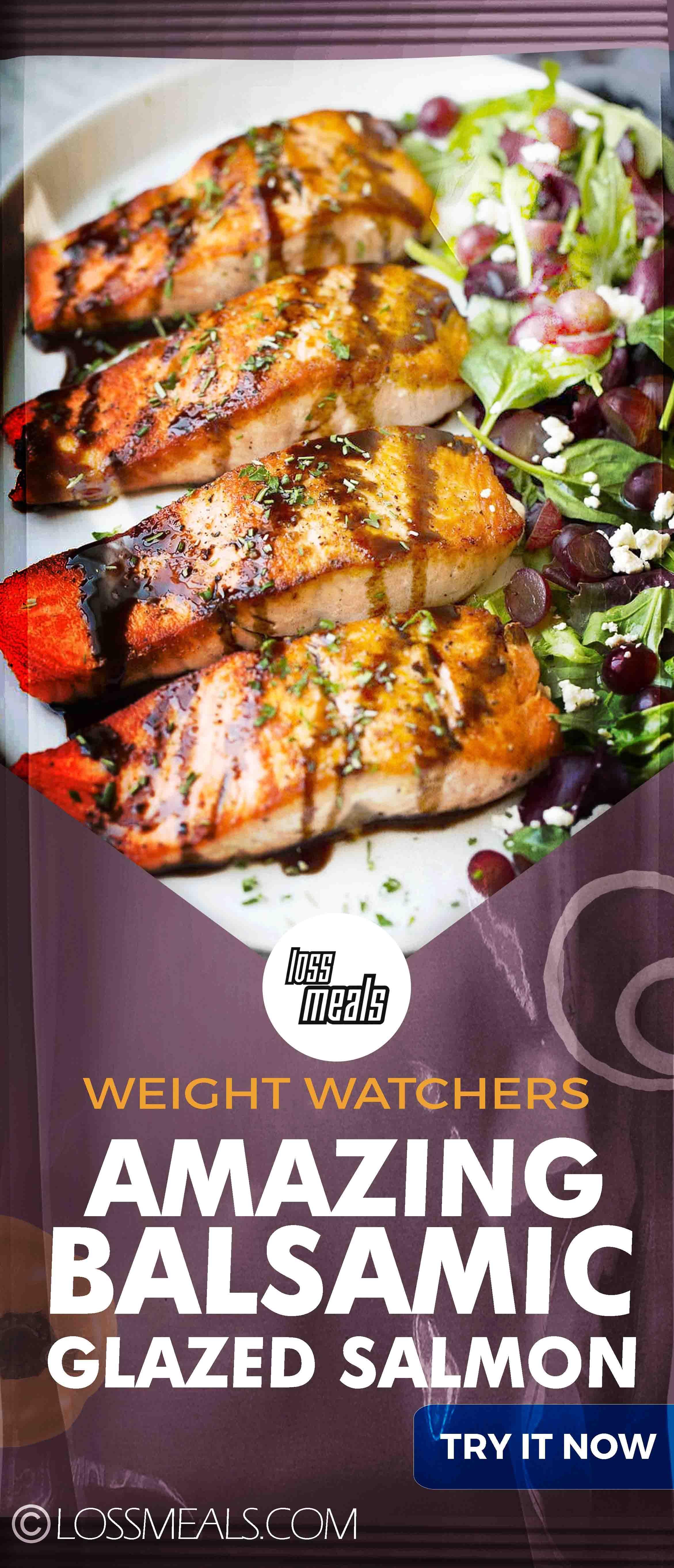 Photo of Amazing Balsamic Glazed Salmon-WW RECIPES||  Salmon is a fancy thing, it will de…