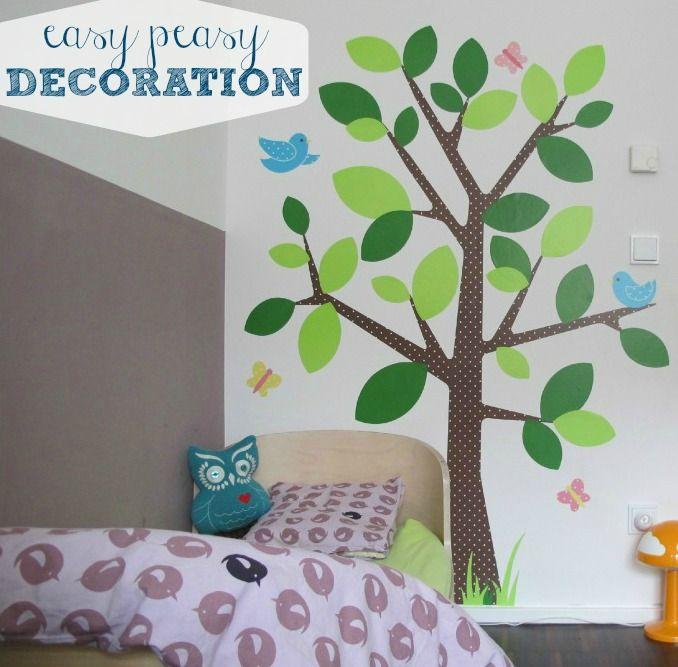 Wände einfach gestalten  mit Stickern! Kinderzimmer, Sticker