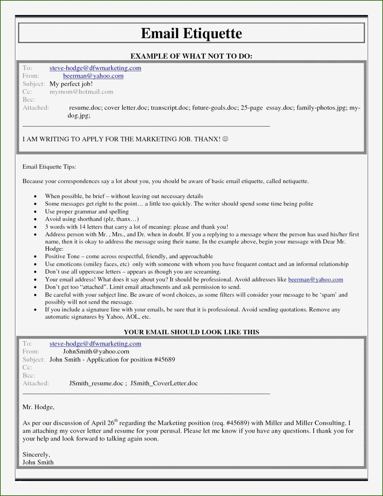 19 Breathtaking Email Template for Sending Resume for 2020