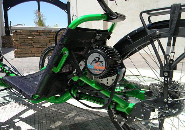 Utah trikes 39 catrike trial with ecospeed electric motor for Recumbent bike with electric motor