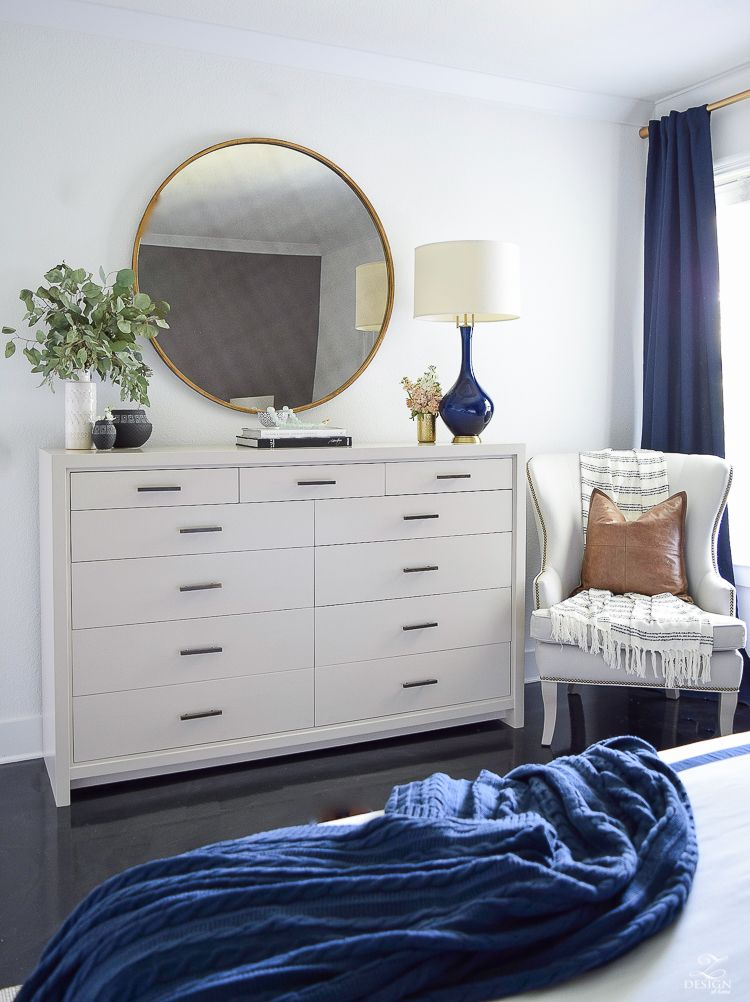 Transitional Modern With A Pinch Of Boho Bedroom Reveal Zdesign At Home Dresser Decor Bedroom Bedroom Dresser Styling Dresser Decor