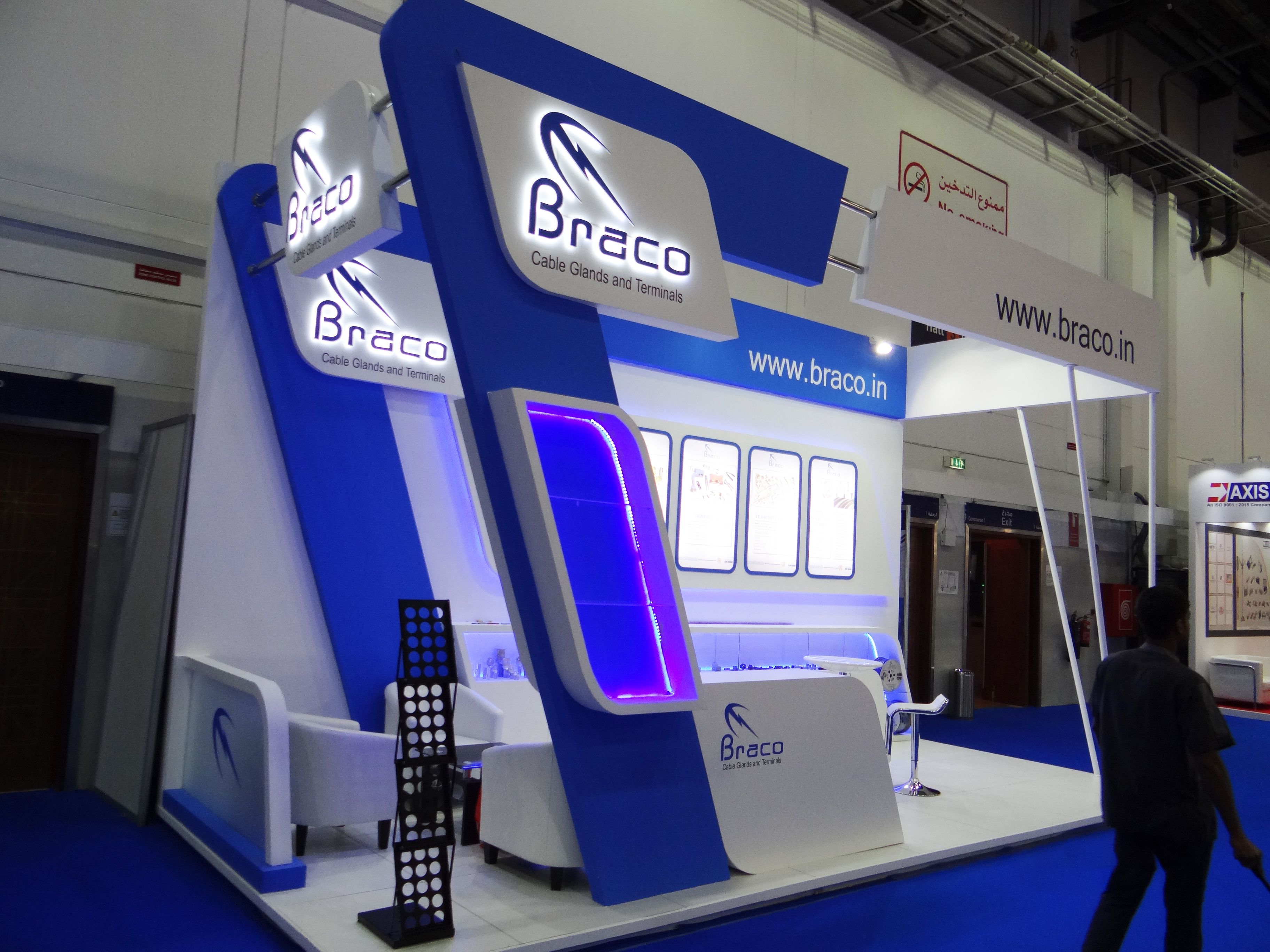 Varistadesigns Design And Build Up For Braco Electrical Private Limited India At Middle East E Exhibition Stand Design Exhibition Stall Design Exhibition Stand