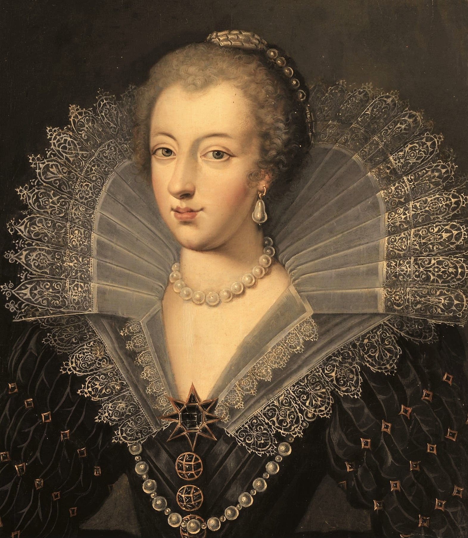 Anne of Austria, Queen of France by Frans Pourbus the Elder ...