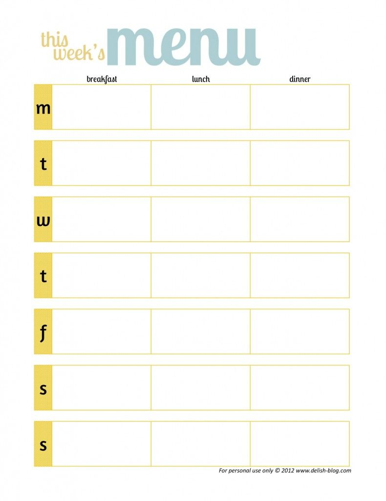 Weekly menu planner beauty tips to make life easier for Make a planner online