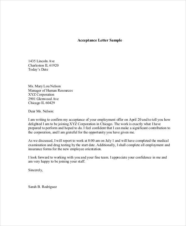 sample job appointment letter examples word pdf offer format best - collection letter template