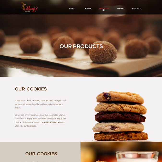 Create a website for a startup modern cookie company by FatSheep