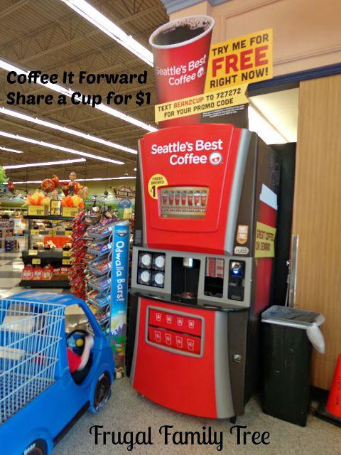 "I had a ""Coffee It Forward"" day @Save Mart w/ @hello_rubi Coffee Kiosk Share a Cup for $1  #rubi2go #shop #cbias"