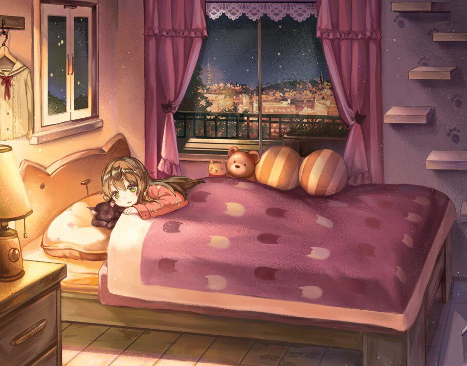 Pin On Everything Pink - Anime Schlafzimmer