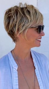 Blonde klassische Ernte #easyshorthairstyles