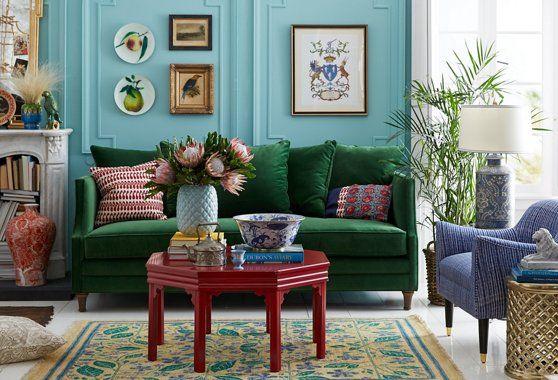 dumont sofa emerald velvet  sofas  sectionals
