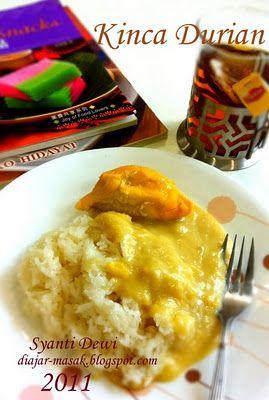 Diajar Masak Kinca Durian Ide Makanan Makanan Cemilan
