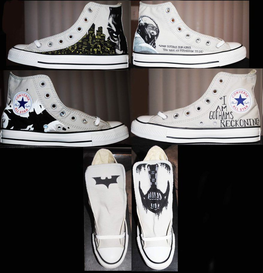 The Dark Knight Rises Custom Converse Batman Converse eb9eb54b0