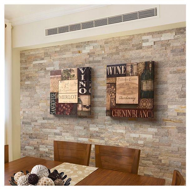 Set 2 cuadros caf vino 30x30cm cuadros para decorar - Panel decorativo cocina ...