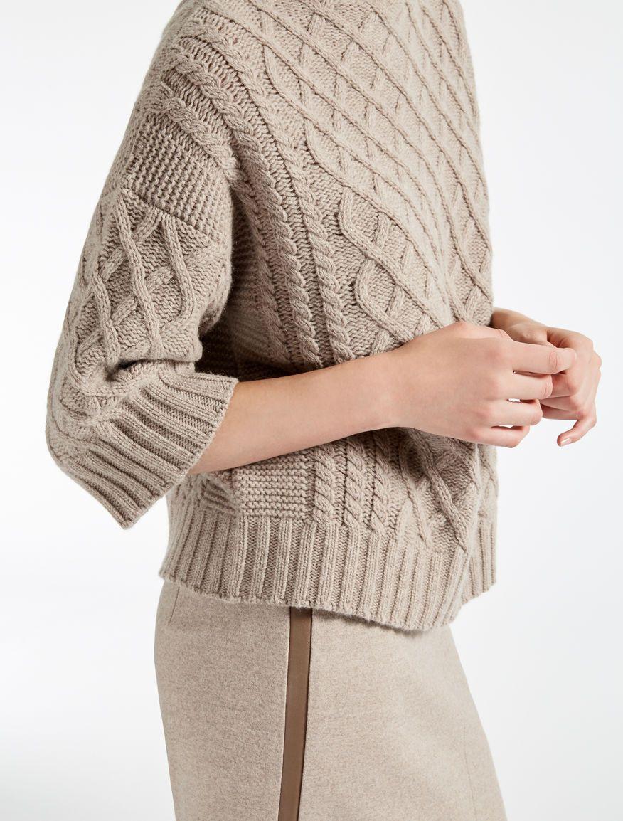 nuovo concetto f65cf 9fd55 Max Mara CANTONE sabbia: Maglia in lana e cachemire. | Fatto ...