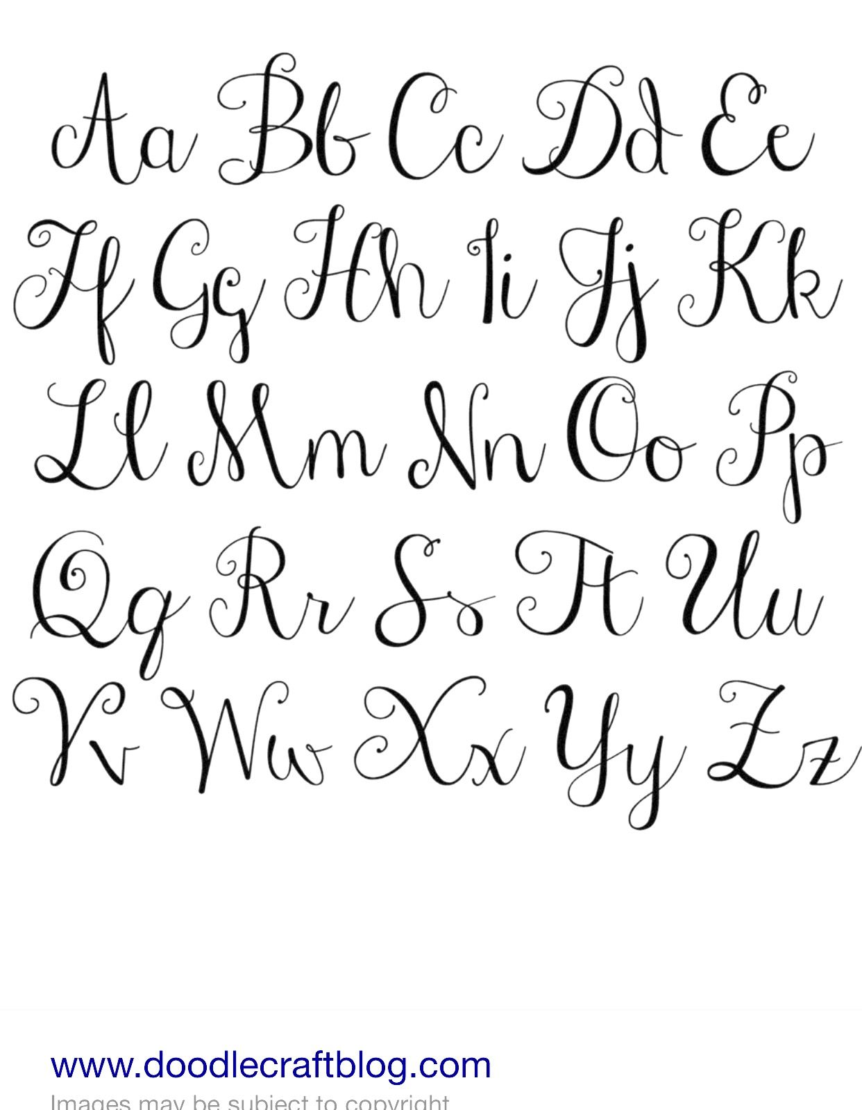 cursive writing alphabet uppercase and lowercase