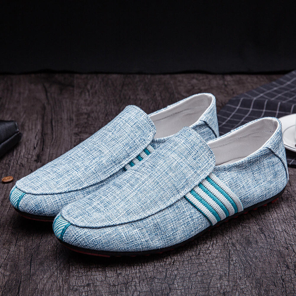 Men Comfy Casual Canvas Loafers Slip On