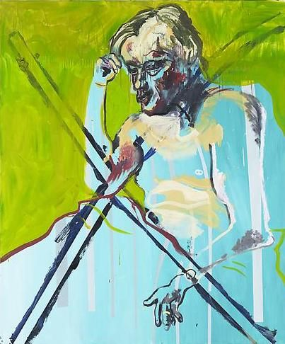 Martin Kippenberger, Untitled (from the series The Raft of Medusa), 1996, oil on canvas, 70.87 x 59.06 inches (© Estate Martin Kippenberger, Galerie Gisela Capitain, Köln)